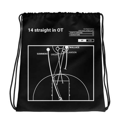 Greatest Georgetown Plays Drawstring Bag: 14 straight in OT (2007)