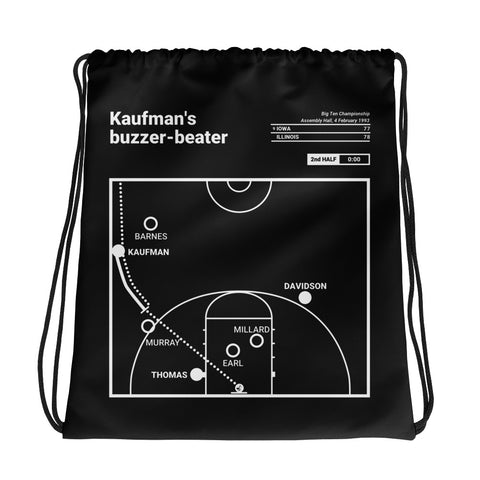 Greatest Illinois Plays Drawstring Bag: Kaufman's buzzer-beater (1993)