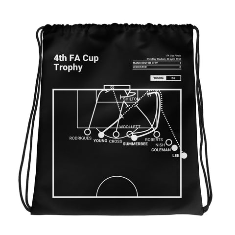 Greatest Manchester City Plays Drawstring Bag: 4th FA Cup Trophy (1969)
