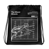 Greatest Dolphins Plays Drawstring Bag: The Miami Miracle (2018)