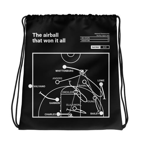 Greatest NC State Plays Drawstring Bag: The airball that won it all (1983)
