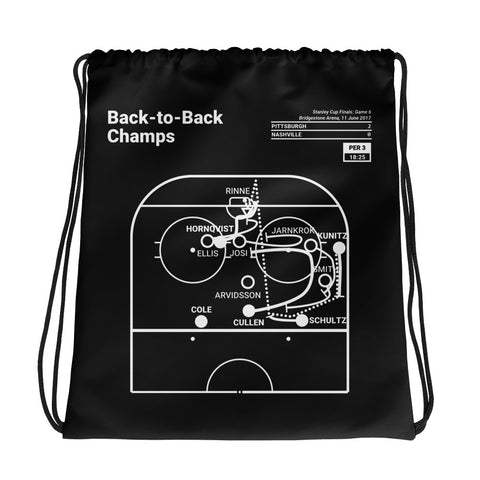 Greatest Penguins Plays Drawstring Bag: Back-to-Back Champs (2017)