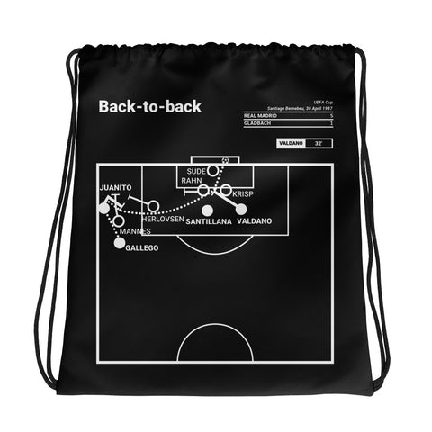 Greatest Madrid Plays Drawstring Bag: Back-to-back (1987)