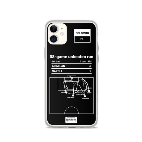 Greatest AC Milan Plays iPhone Case: 58-game unbeaten run (1988)