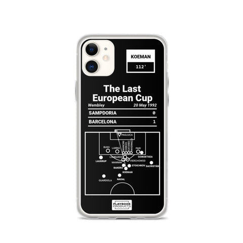 Greatest Barcelona Plays iPhone Case: The Last European Cup (1992)