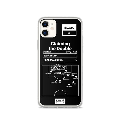 Greatest Barcelona Plays iPhone Case: Claiming the Double (1998)