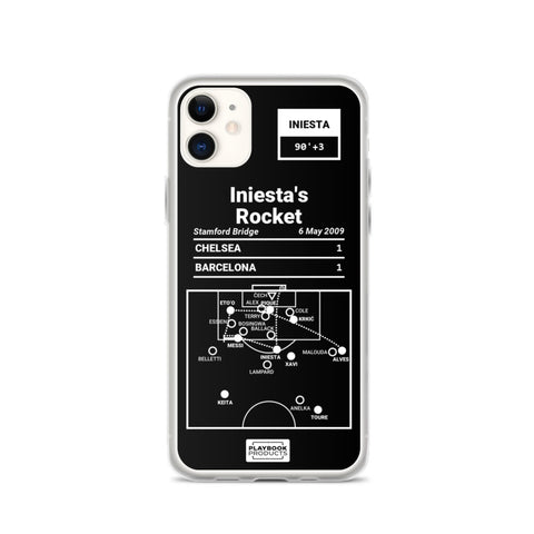 Greatest Barcelona Plays iPhone Case: Iniesta's Rocket (2009)