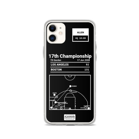 Greatest Celtics Plays iPhone Case: 17th Championship (2008)