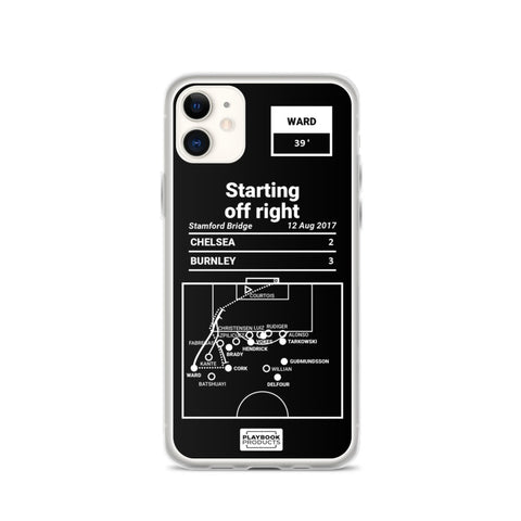 Greatest Burnley Plays iPhone Case: Starting off right (2017)