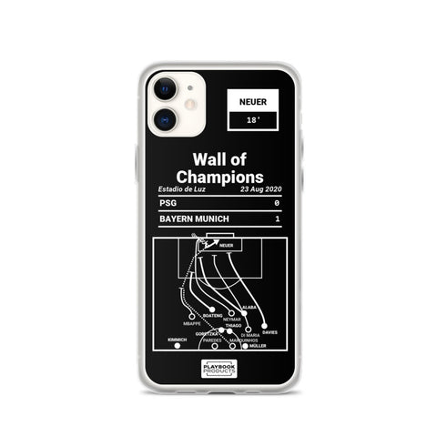 Greatest Bayern Munich Plays iPhone Case: Wall of Champions (2020)