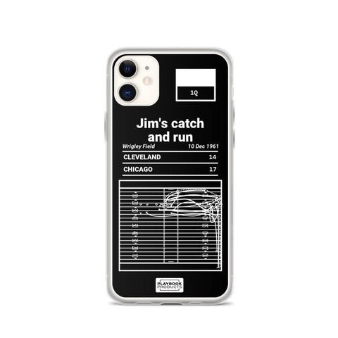 Greatest Browns Plays iPhone Case: Jim's catch and run (1961)