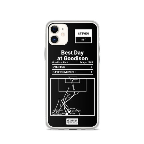 Greatest Everton Plays iPhone Case: Best Day at Goodison (1985)