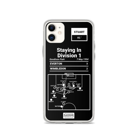 Greatest Everton Plays iPhone Case: Staying In Division 1 (1994)