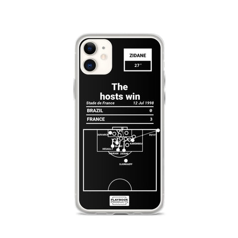 Greatest France Plays iPhone Case: The hosts win (1998)