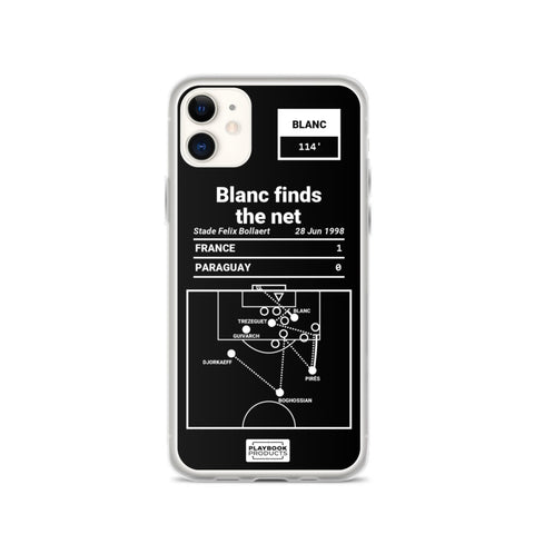 Greatest France Plays iPhone Case: Blanc finds the net (1998)