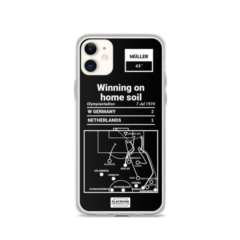 Greatest Germany Plays iPhone  Case: Winning on home soil (1974)