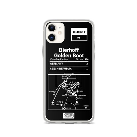 Greatest Germany Plays iPhone  Case: Bierhoff Golden Boot (1996)