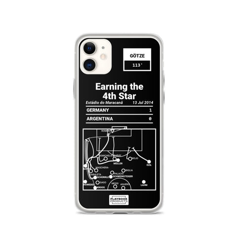 Greatest Germany National Team Plays iPhone Case: Earning the 4th Star (2014)