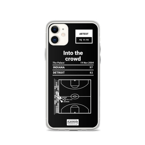 Oddest Pacers Plays iPhone Case: Into the crowd (2004)