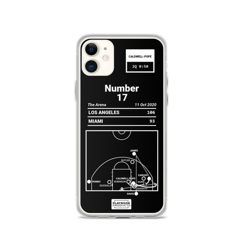 Greatest Lakers Plays iPhone Case: Number 17 (2020)