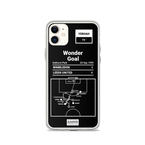 Greatest Leeds United Plays iPhone Case: Wonder Goal (1995)