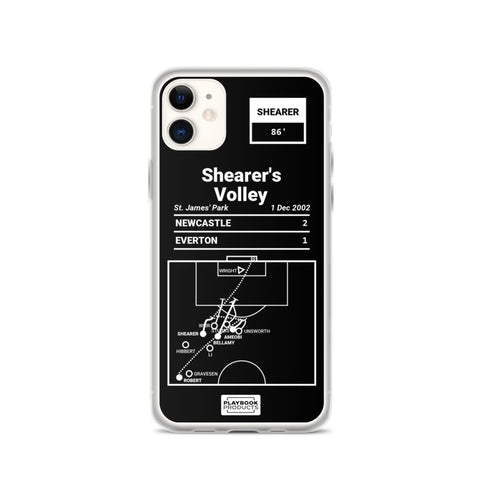 Greatest Newcastle Plays iPhone Case: Shearer's Volley (2002)