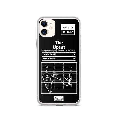 Greatest Ole Miss Football Plays iPhone Case: The Upset (2014)