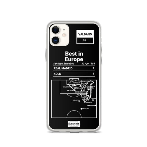 Greatest Real Madrid Plays iPhone Case: Best in Europe (1986)