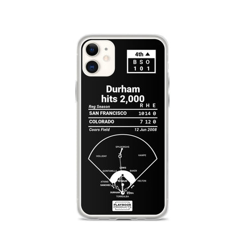 Greatest Giants Plays iPhone Case: Durham hits 2,000 (2008)