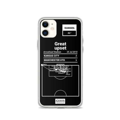 Greatest Sporting Kansas City Plays iPhone Case: Great upset (2010)