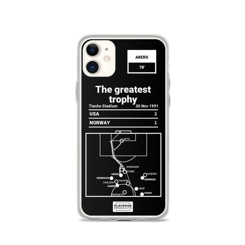 Greatest USWNT Plays iPhone Case: The greatest trophy (1991)