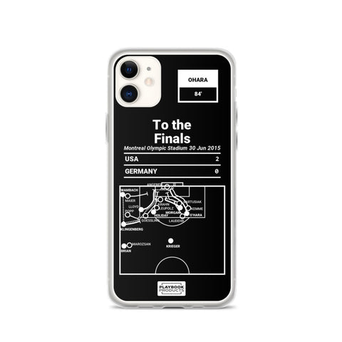 Greatest USWNT Plays iPhone Case: To the Finals (2015)
