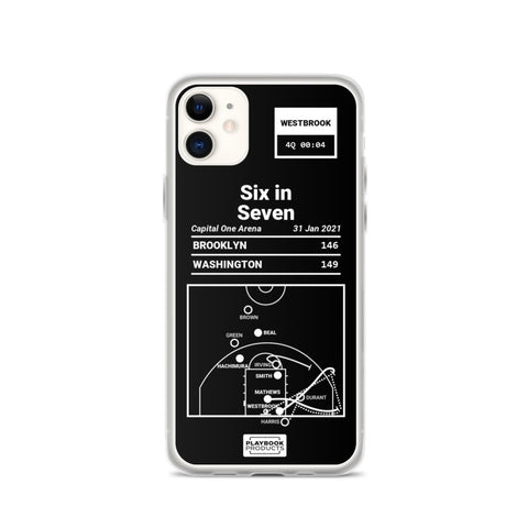 Greatest Wizards Plays iPhone Case: Six in Seven (2021)