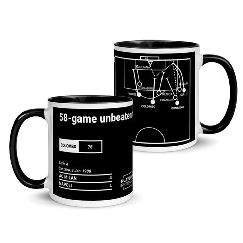 Greatest Milan Plays Mug: 58-game unbeaten run (1988)