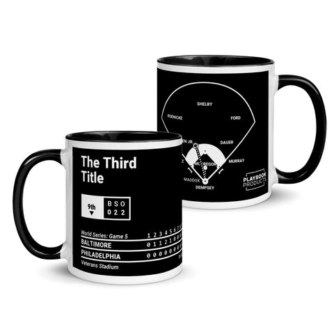 Greatest Orioles Plays Mug: The Third Title (1983)