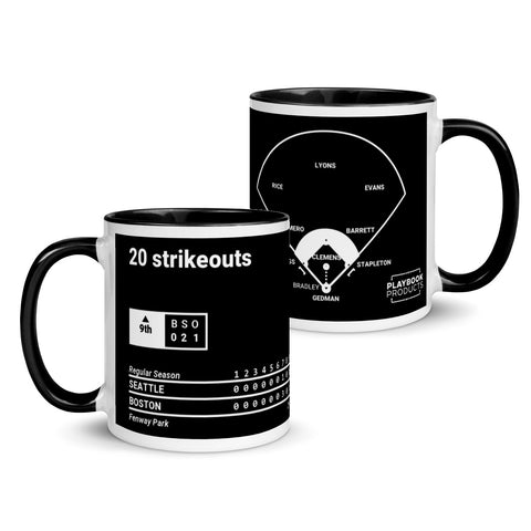 Greatest Red Sox Plays Mug: 20 strikeouts (1986)