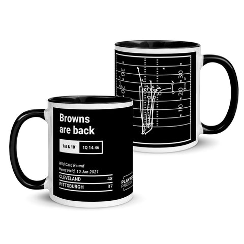 Greatest Browns Plays Mug: Playoff Football (2021)