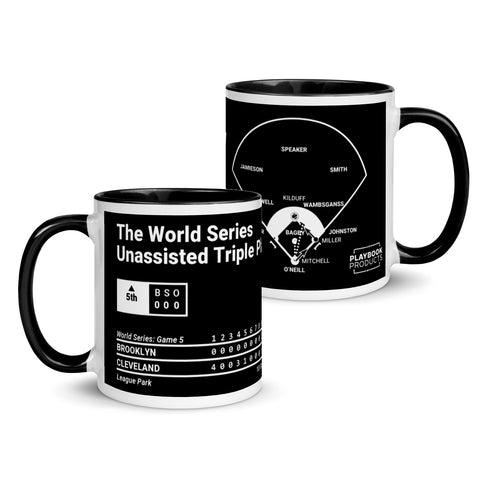 Greatest Indians Plays Mug: The World Series Unassisted Triple Play (1920)