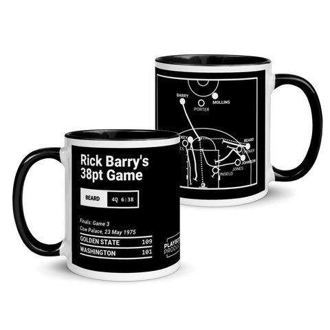 Greatest Warriors Plays Mug: Rick Barry's 38pt Game (1975)