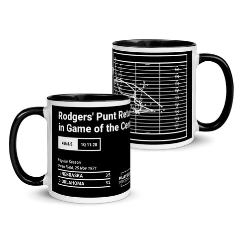 Greatest Nebraska Plays Mug: Rodgers' Punt Return in Game of the Century (1971)