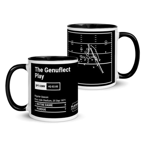 Greatest Notre Dame Plays Mug: The Genuflect Play (1971)