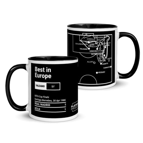 Greatest Madrid Plays Mug: Best in Europe (1986)
