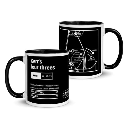 Greatest Spurs Plays Mug: Kerr's four threes (2003)