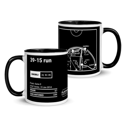 Greatest Spurs Plays Mug: 39-15 run (2014)