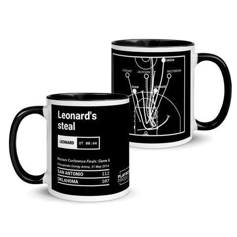 Greatest Spurs Plays Mug: Leonard's steal (2014)