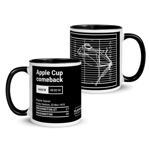 Greatest Washington Plays Mug: Apple Cup comeback (1975)