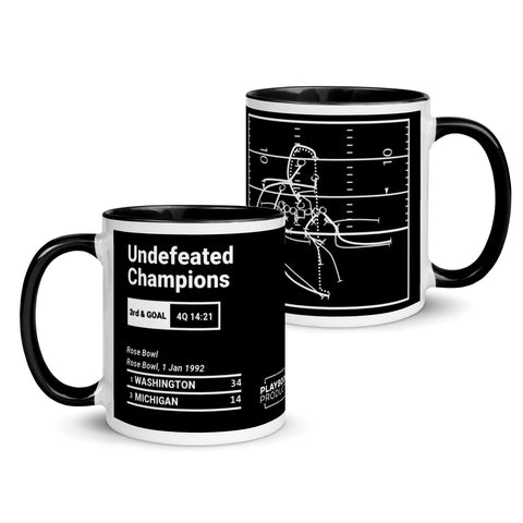 Greatest Washington Plays Mug: Undefeated Champions (1992)