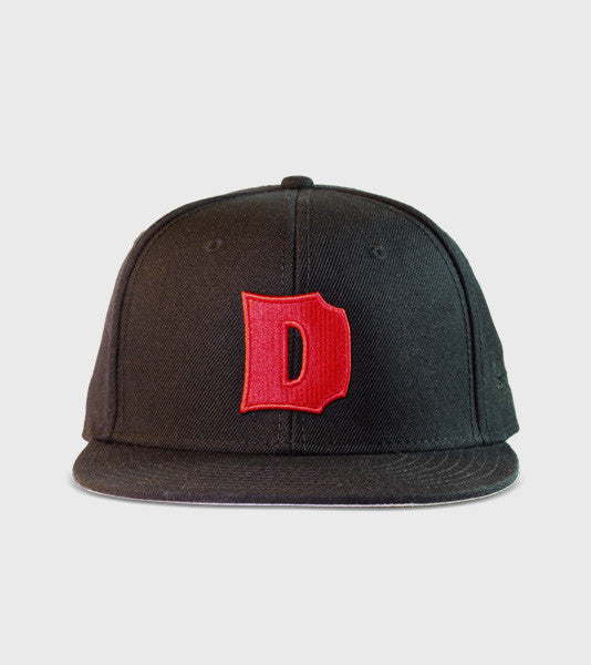 Big D classic 3D embroidered snapback hat