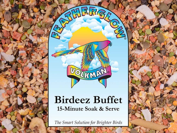 Volkman Seed Featherglow Birdeez Buffet/15 Minute Soak & Serve 2lb