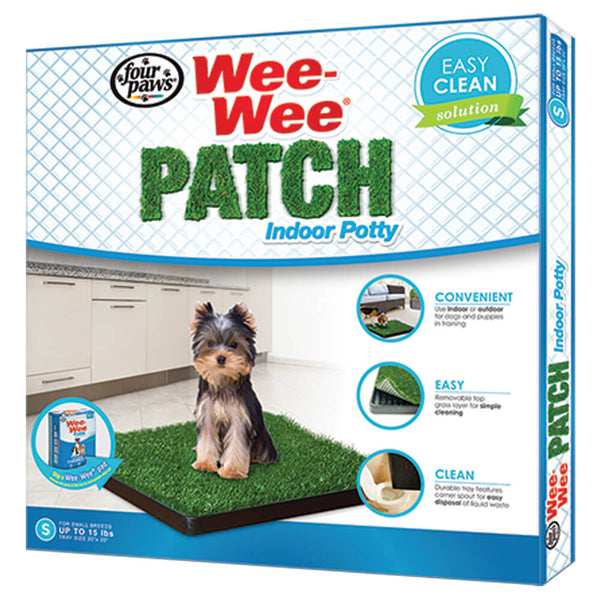 "Four Paws Wee Wee Patch Indoor Potty - Small (20"" Long x 20"" Wide) for Dogs up to 15 lbs"